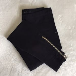 Joe's Jeans black leggings with ankle zippers new!